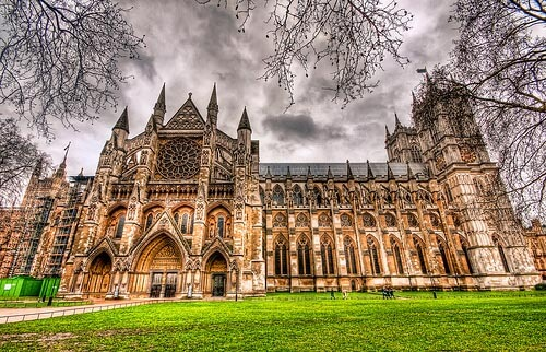 The outside of Westminster Abbey