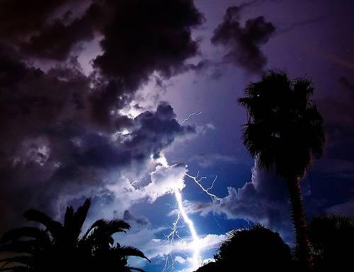 A Florida lightning storm system