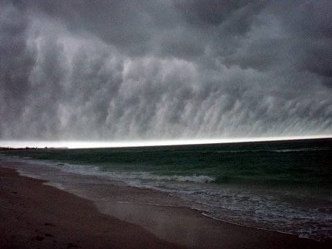 Storm front arriving in Florida