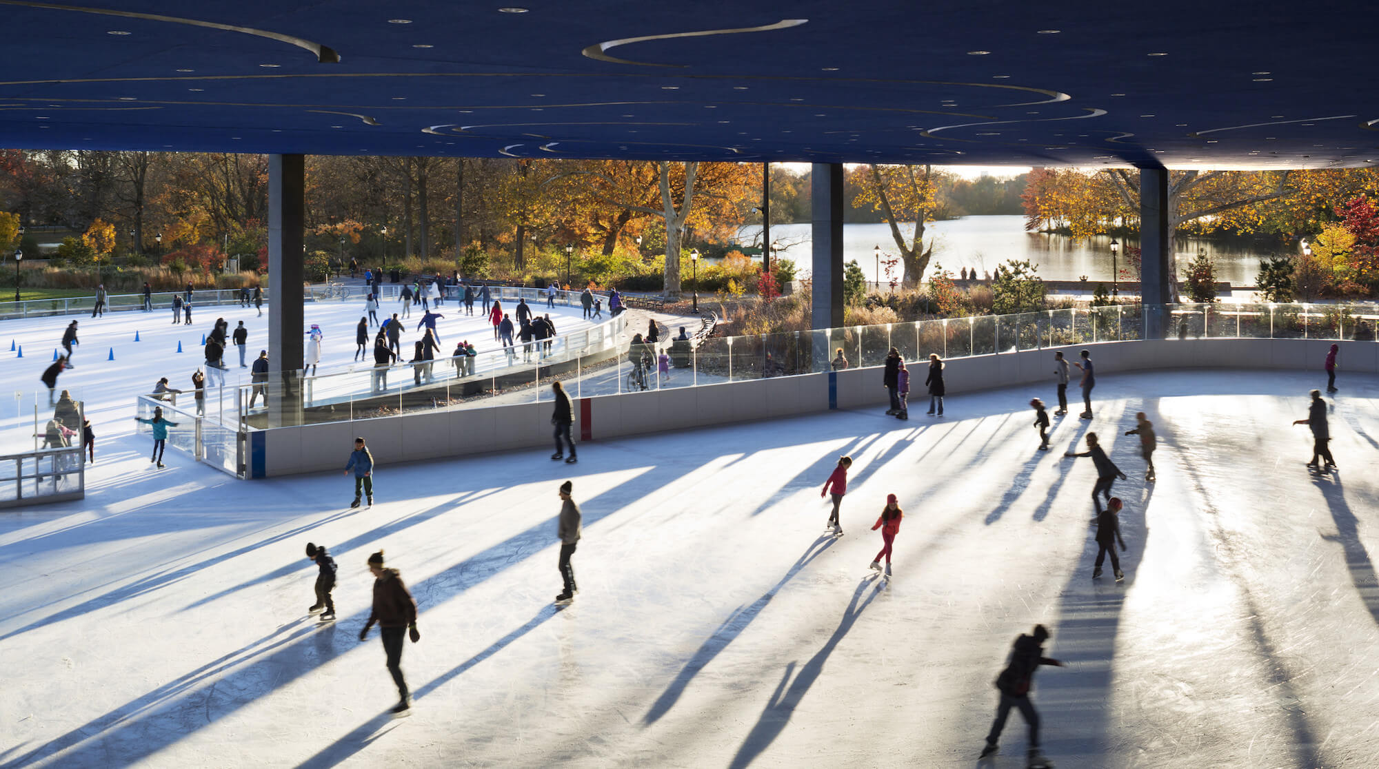The LaFrak Center Ice Rink in Prospect Park