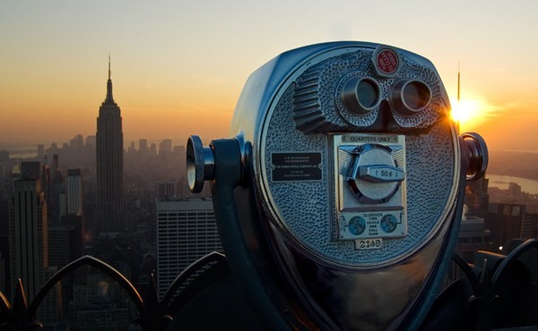 Overlooking Empire State Building from Top of the Rock