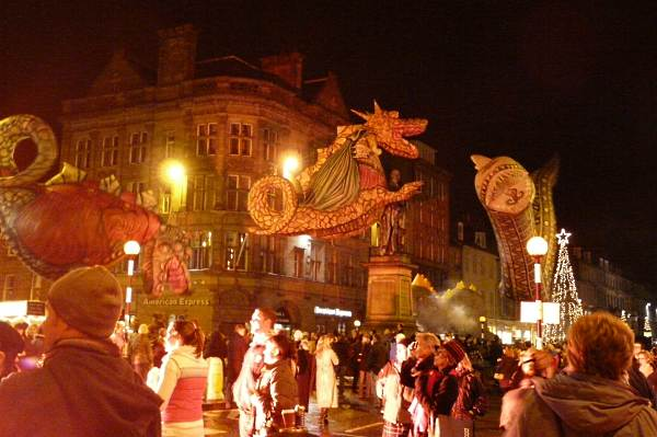 Hogmanay Parade in Edinburgh, Scotland