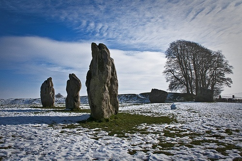 Winter at Avebury Stone Circle, England