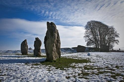 Winter at Avebury Stone Circle, England