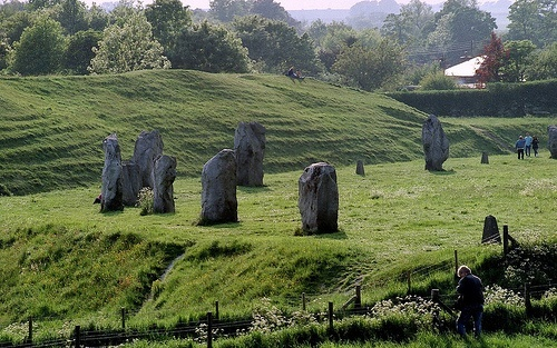 The Avebury Stone Circle in Wiltshire