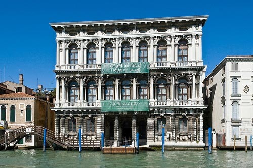 The Ca' Rezzonico Museum seen from the Grand Canal