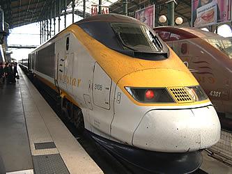 The Eurostar train waiting to take us to Paris