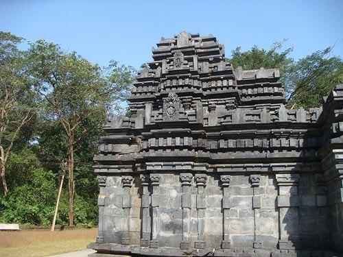 The Mehedev Temple in Tambdi Surla, Goa