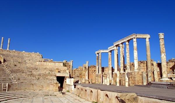 Ruins at Leptis Magna, near Tripoli