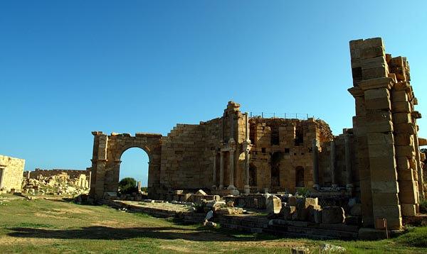 Ruins at Leptis Magna, Libya