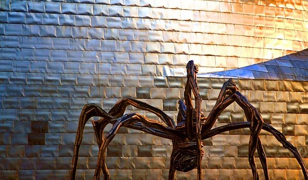 The Tarantula outside Bilbao's Guggenheim museum