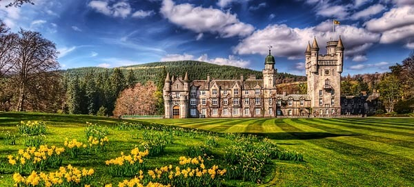 Beautiful Balmoral Castle in the Scottish Highlands