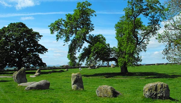 Cumbria's famous stone circle Long Meg and Her Daughters