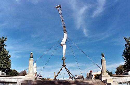 The Bolt of Lightning Memorial to Benjamin Franklin in Philadelphia