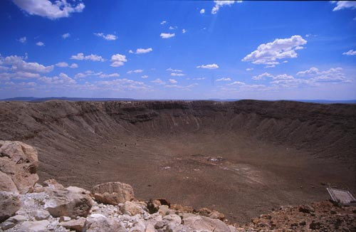 Barringer meteor crater in Arizona