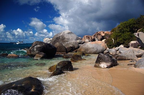 The Baths at Virgin Gorda in the British Virgin Islands