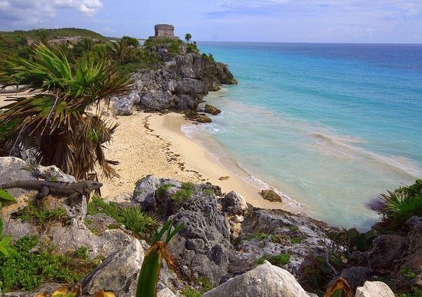 The amazing beach at Tulum, Riviera Maya