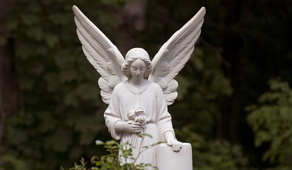 Angel statue at Highgate Cemetery, London
