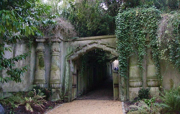 Gate to Highgate Cemetery, London