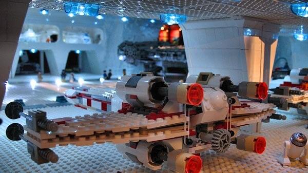 X-Wing in Hangar at Legoland Carlsbad