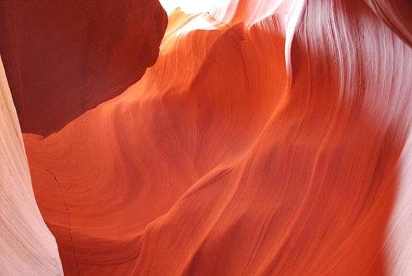 Amazing colors in the sandstone at Antelope Canyon