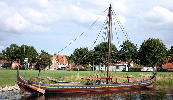 A modern viking ship in Roskilde, Denmark
