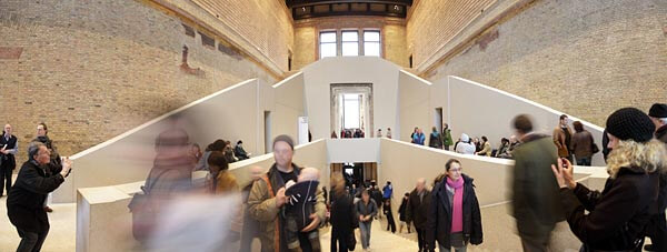 Entrance hall to the Neues Museum in Berlin