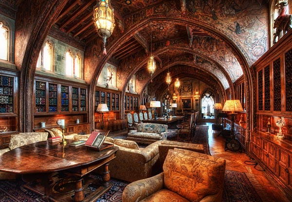 Study in Hearst Castle