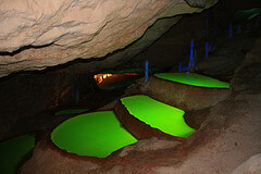 Inside the C'an Marca Caves in Ibiza