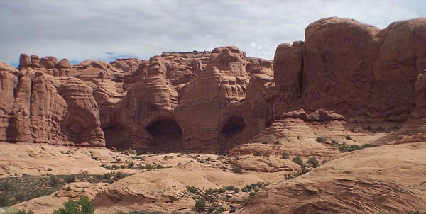 Caves in the Arches National Park