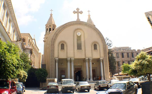 The St Marks Cathedral exterior, Alexandria