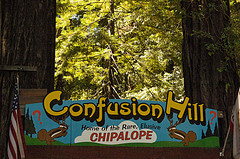 The Confusion Hill entrance, California