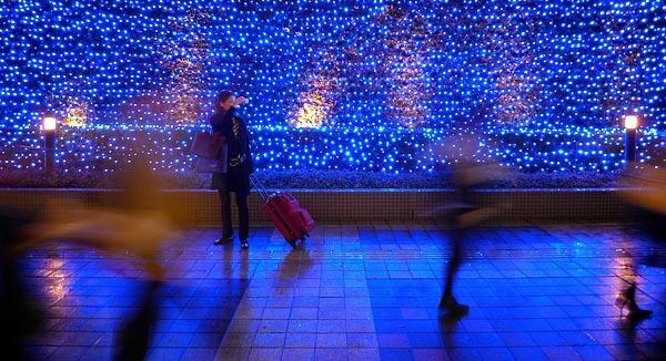 Christmas lights in Shinjuku, Tokyo