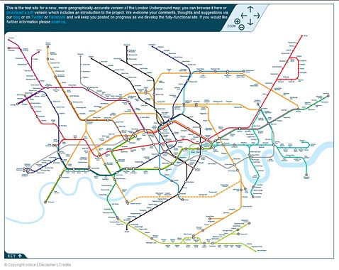 Experimental London Tube map