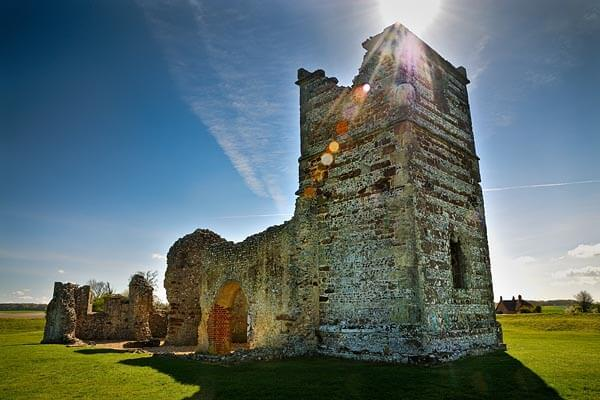 The Knowlton Church ruins in Dorset