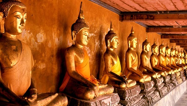 Buddhas in a Thai temple