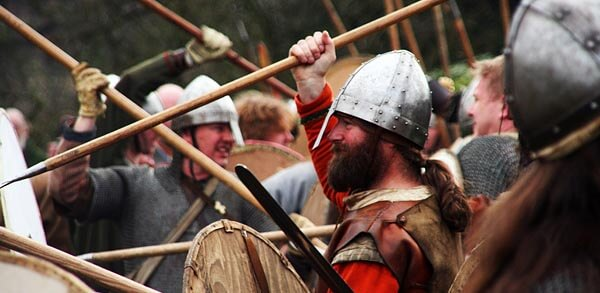 Battle recreation at the Jorvik Viking Centre