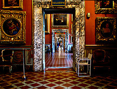 Sumptous interior at Palazzo Pitti in Florence
