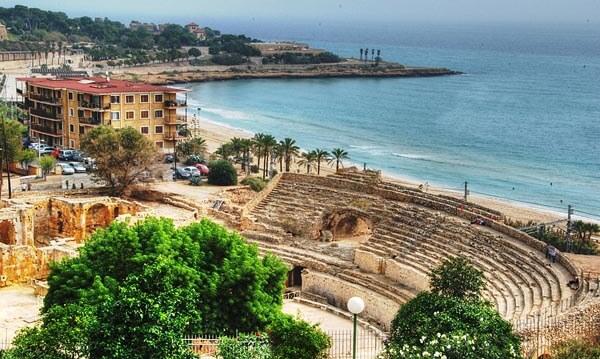 The amphitheater in Tarragona, Spain