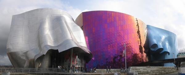 The Experience Music Project building in Seattle