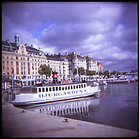 A ferry in Stockholm, Sweden