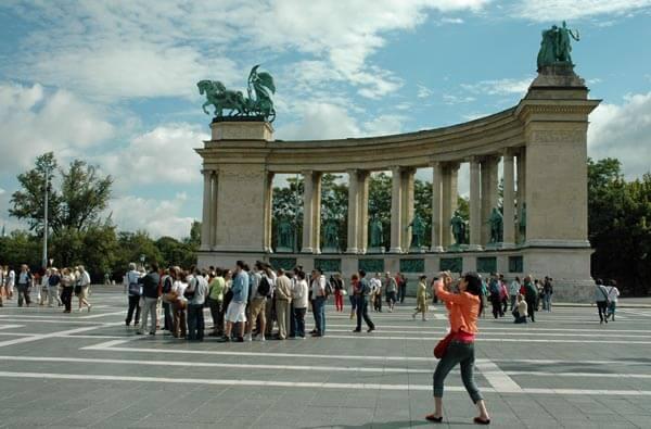 The Millennium Monument in Budapest