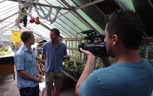 Filming for a journalism internship