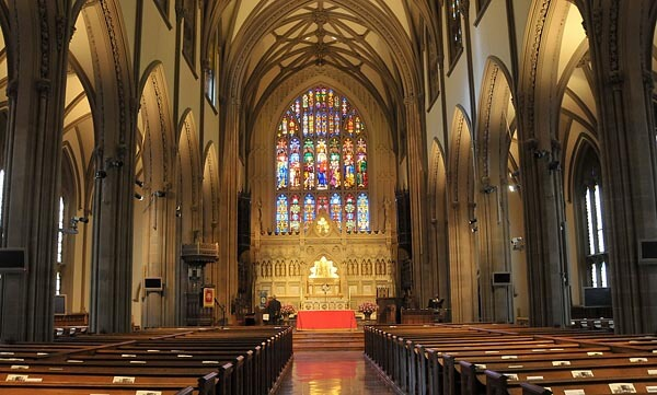 Interior of Trinity Church, NYC