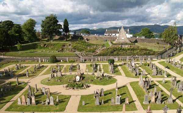 The Old Town Cemeteries in Stirling
