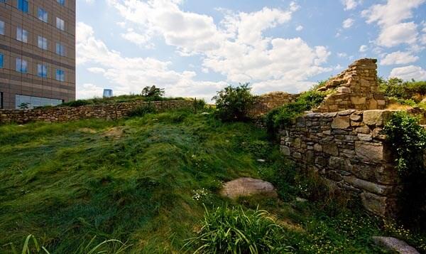 The Irish Hunger Memorial gardens