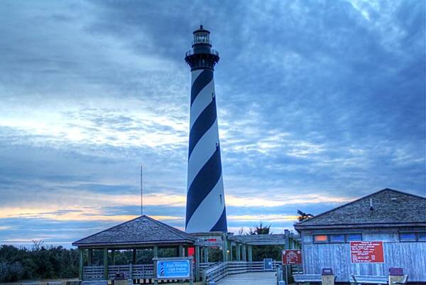The lighthouse on Cape Hatteras