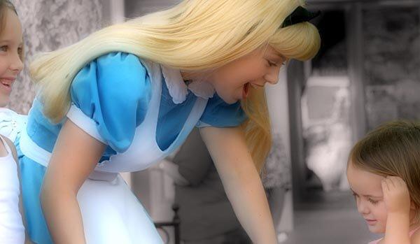Meeting Cinderella at Disney World