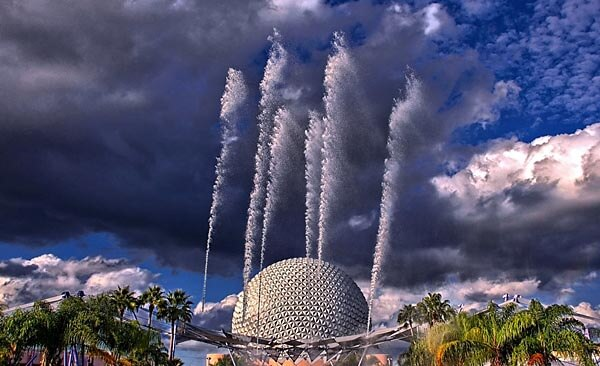 The futuristic Epcot Center in Florida