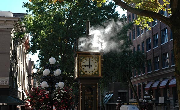 Steam powered clock, Vancouver Gastown